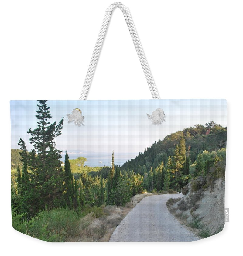 Roads Weekender Tote Bag featuring the photograph Out Of The Way by George Katechis