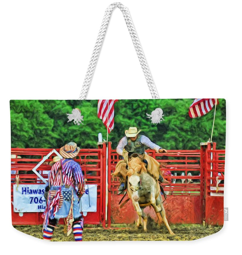 Kenny Francis Weekender Tote Bag featuring the photograph Out The Gate by Kenny Francis