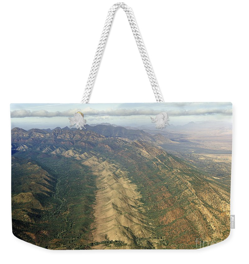 Outback Weekender Tote Bag featuring the photograph Outback Mountains by Ray Warren