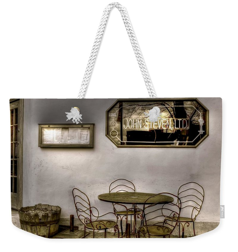 Dining Weekender Tote Bag featuring the photograph Outdoor Dining by Debbi Granruth
