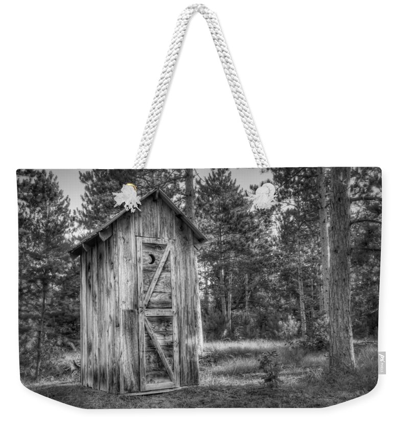Outhouse Weekender Tote Bag featuring the photograph Outdoor Plumbing by Scott Norris