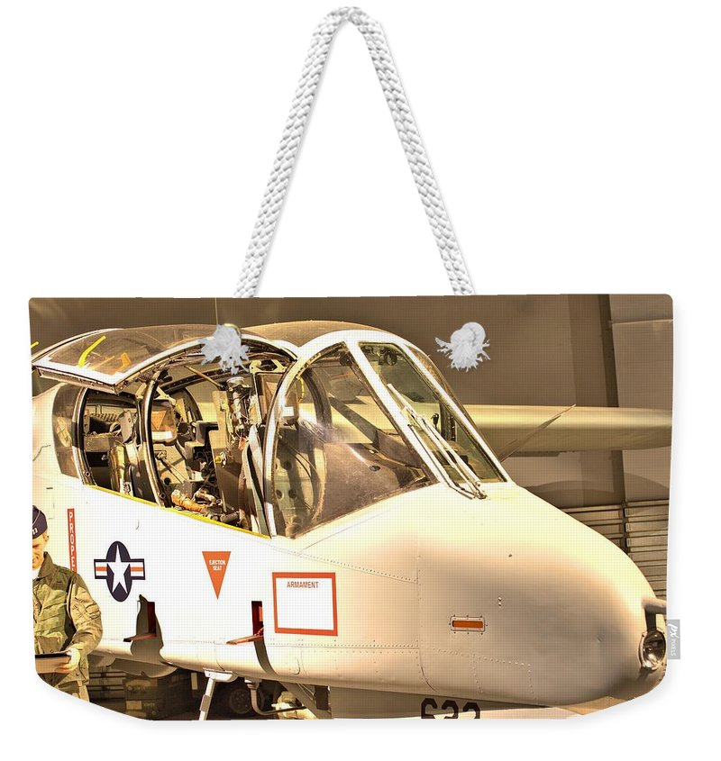 9831 Weekender Tote Bag featuring the photograph Ov-10 Bronco by Gordon Elwell