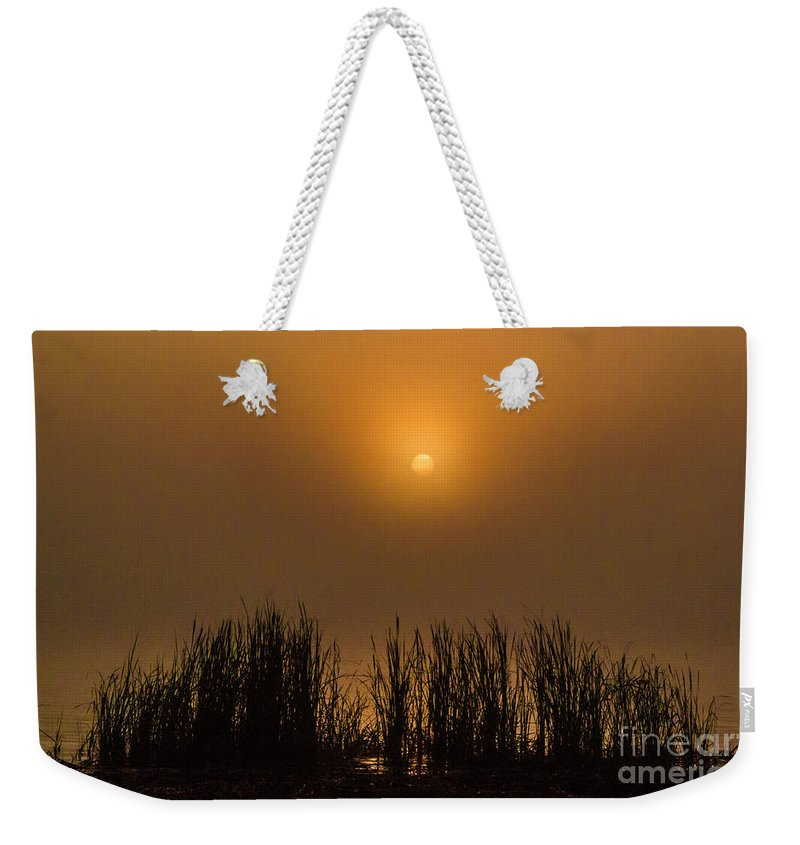 Lake Weekender Tote Bag featuring the photograph Over Golden Pond by Scott Hervieux