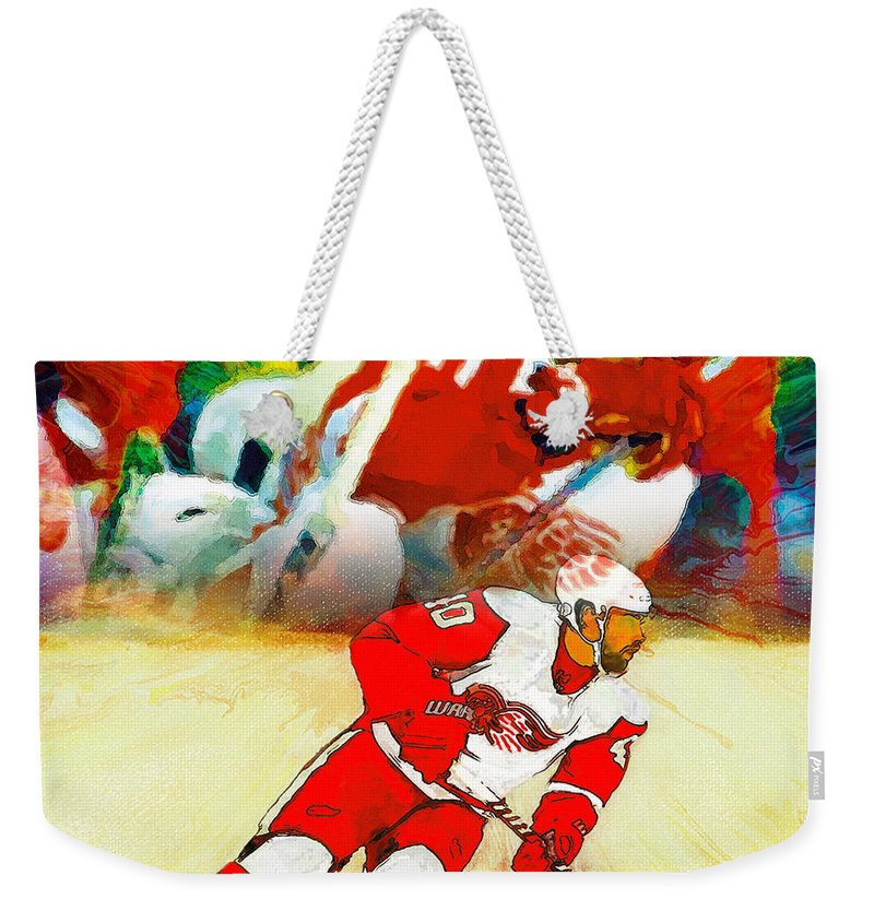 Henrik Zetterberg Weekender Tote Bag featuring the painting Over The Boards by John Farr