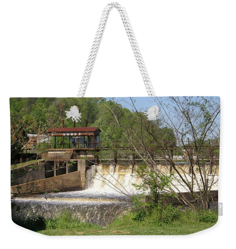 Pratt Weekender Tote Bag featuring the photograph Over The Falls by Caryl J Bohn