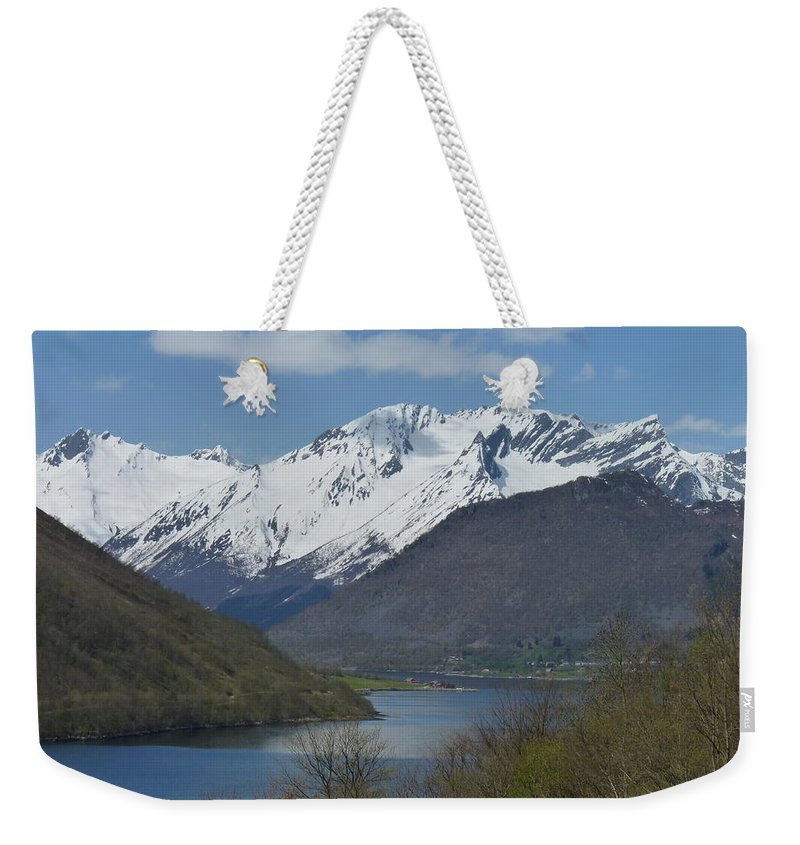 Weekender Tote Bag featuring the photograph Over The Hjorundfjord by Katerina Naumenko