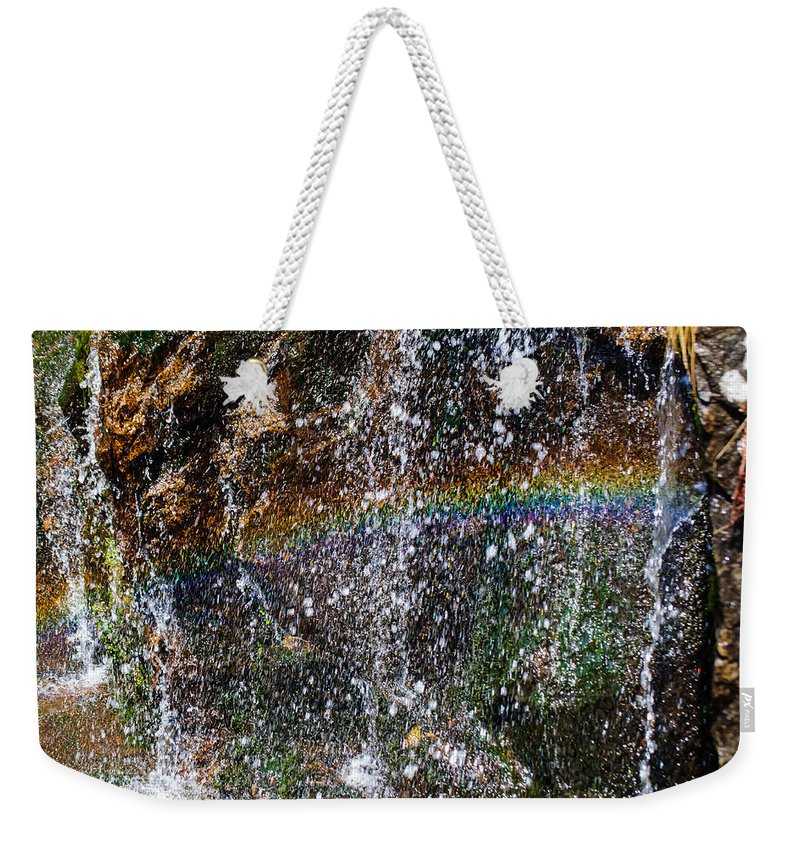 Christine Falls Weekender Tote Bag featuring the photograph Over The Rainbow by Tikvah's Hope