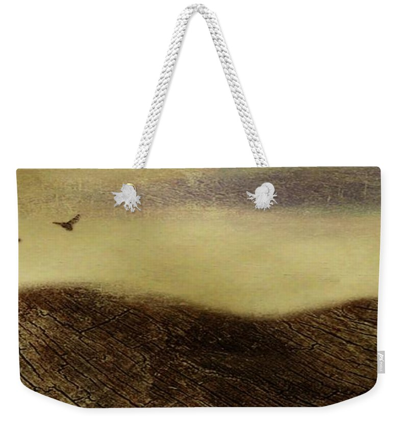 Dark Weekender Tote Bag featuring the painting Over The Ridge by Gina Lee Manley