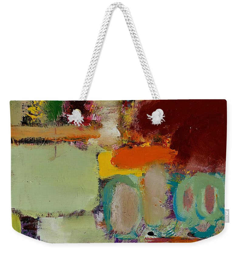 Landscape Weekender Tote Bag featuring the painting Over There by Allan P Friedlander