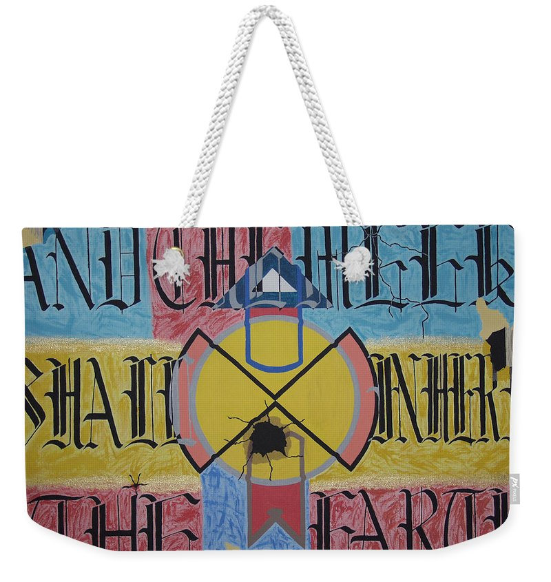 Famous Saying Weekender Tote Bag featuring the painting Overature 2112 by Dean Stephens