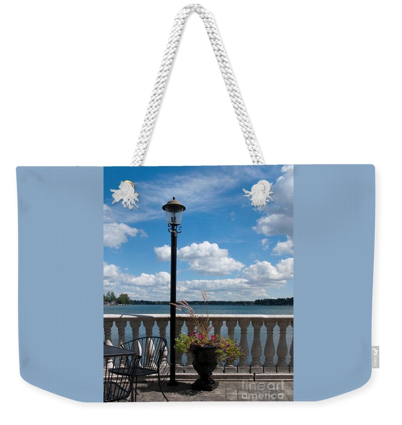 Lake Weekender Tote Bag featuring the photograph Overlook by Ann Horn