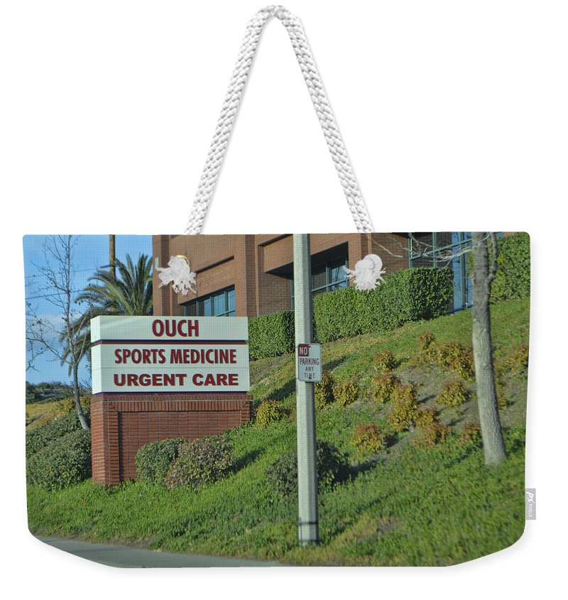 Medical Center Weekender Tote Bag featuring the photograph Owee by Tommy Anderson