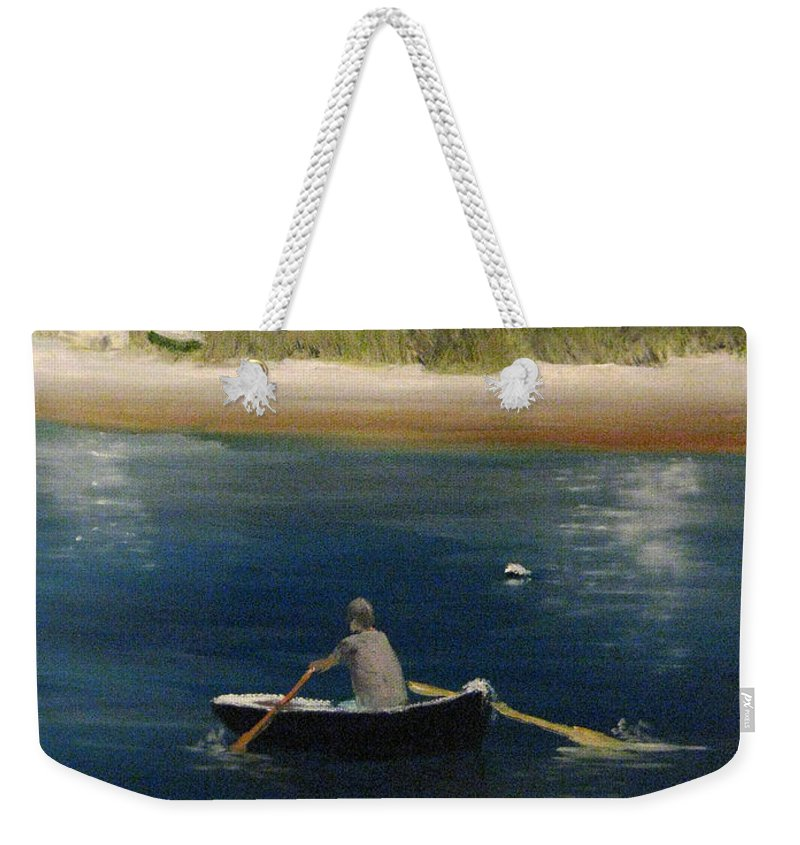 Martha's Vineyard Weekender Tote Bag featuring the painting Owen Park by Nick Robinson