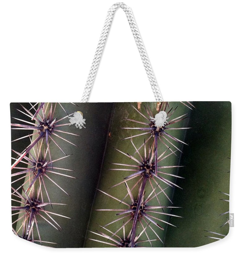 Cacti Weekender Tote Bag featuring the photograph Owie 12 by Marlene Burns