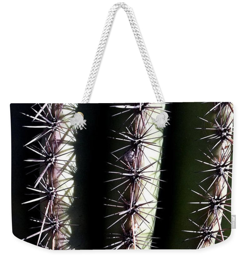 Cacti Weekender Tote Bag featuring the photograph Owie 9 by Marlene Burns