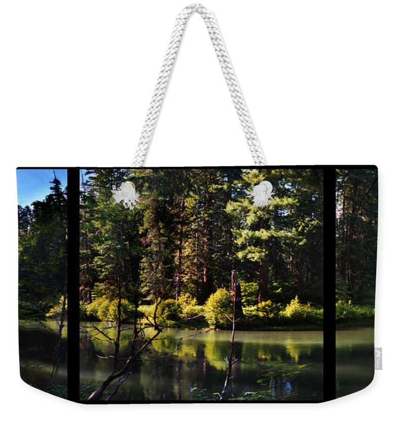Oxbow Weekender Tote Bag featuring the digital art Oxbow Triptych by Peter Piatt