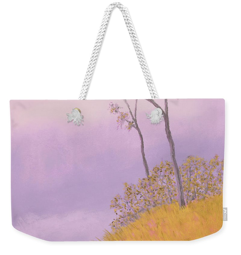 Ozarks Weekender Tote Bag featuring the painting Ozark Glade by Garry McMichael