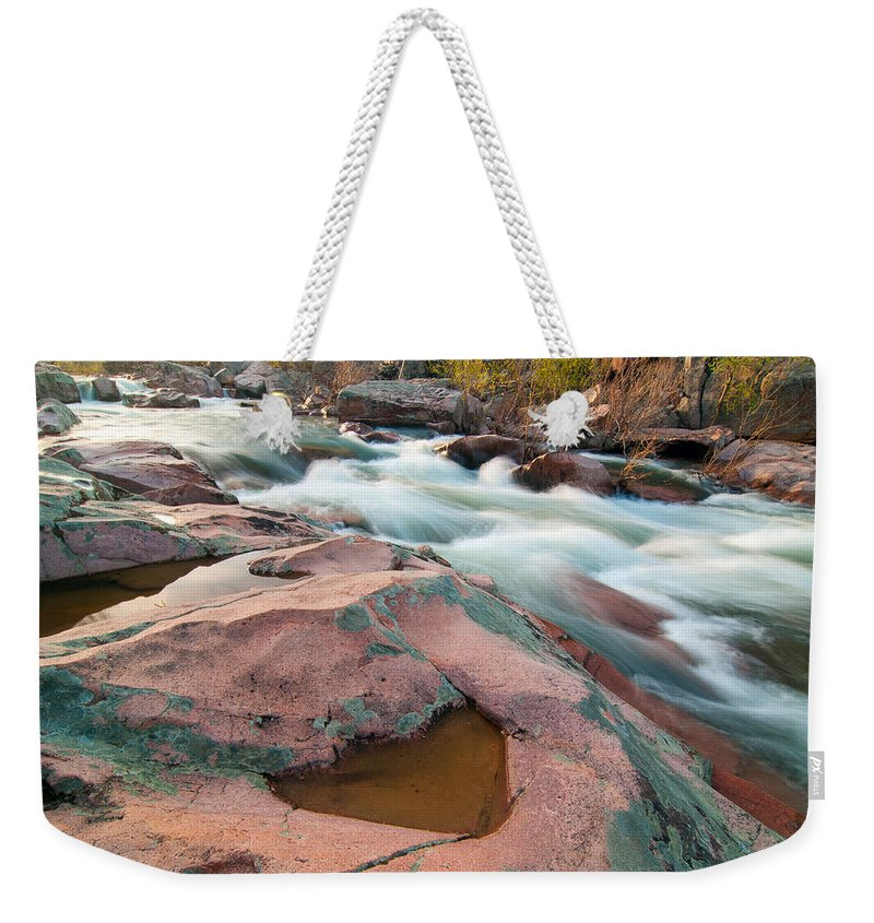 Castor River Weekender Tote Bag featuring the photograph Ozark Stream by Steve Stuller