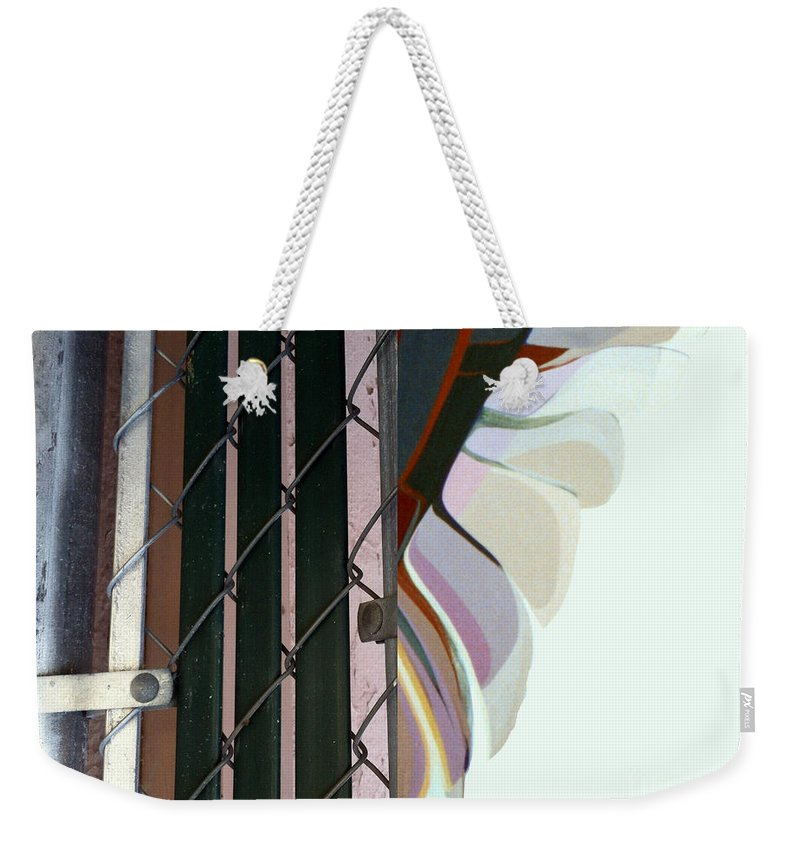 Marlene Burns Photography Weekender Tote Bag featuring the painting p HOTography 107 by Marlene Burns