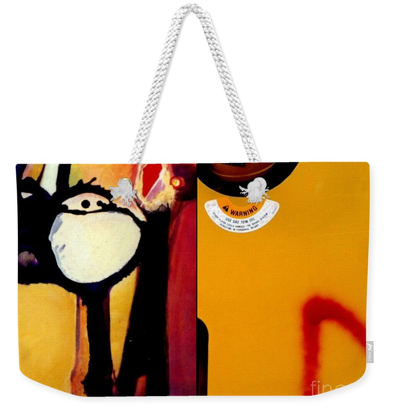 Marlene Burns Photography Weekender Tote Bag featuring the painting p HOTography 122 by Marlene Burns