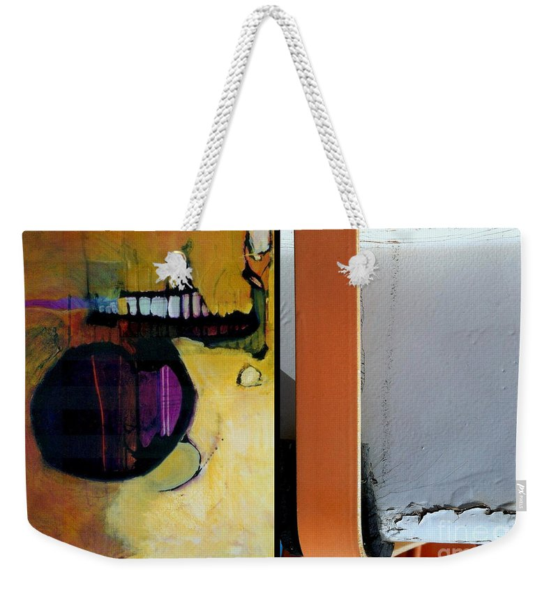 Abstract Photography Weekender Tote Bag featuring the painting p HOTography 146 by Marlene Burns