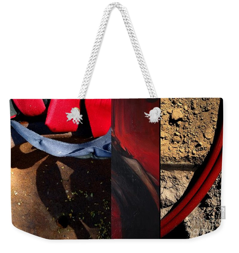 Abstract Art Weekender Tote Bag featuring the painting p HOTography 148 by Marlene Burns