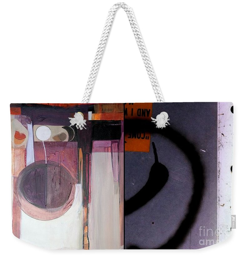 Abstract Photography Weekender Tote Bag featuring the painting p HOTography 150 by Marlene Burns