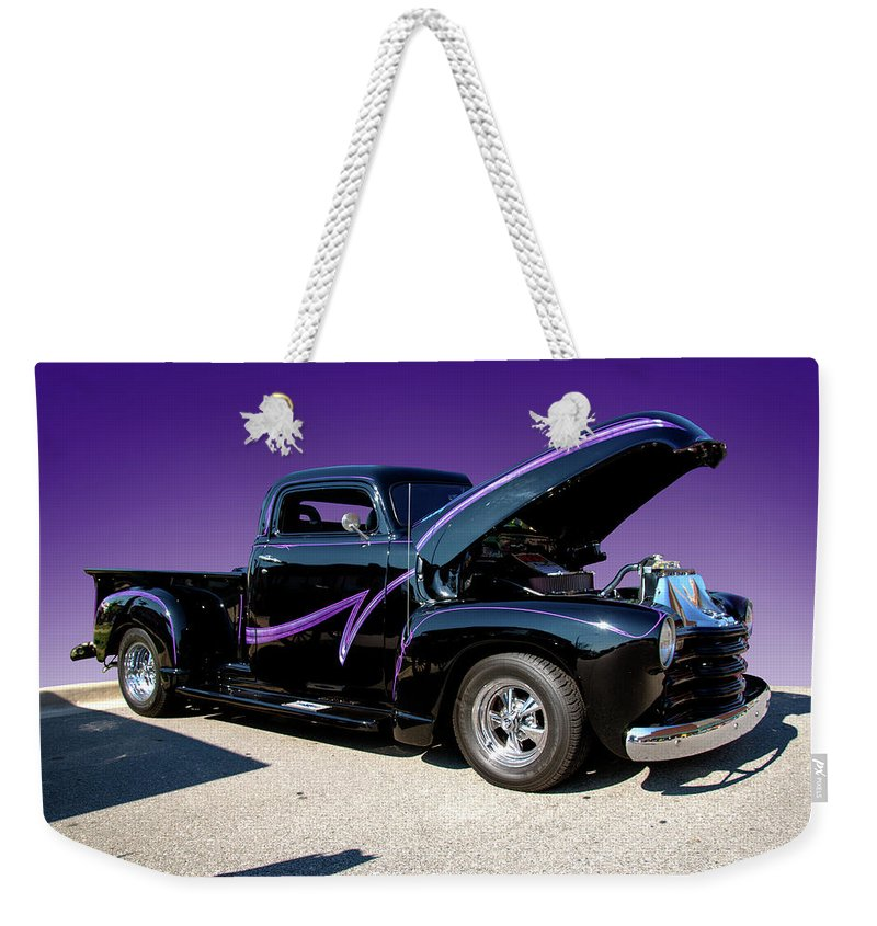 Purple Weekender Tote Bag featuring the photograph P P - Purple Pickup by Paul Cannon