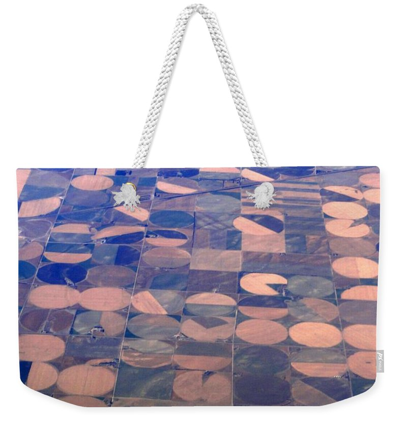 Crop Circles Weekender Tote Bag featuring the photograph Pac-man by Anthony Wilkening