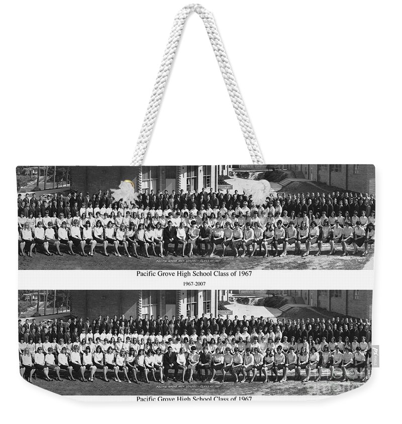Pacific Grove Weekender Tote Bag featuring the photograph Pacific Grove California High School Class Of 1967 by California Views Archives Mr Pat Hathaway Archives