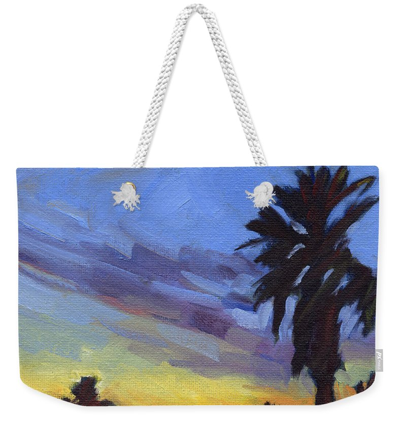 Sunset Weekender Tote Bag featuring the painting Pacific Sunset 2 by Konnie Kim