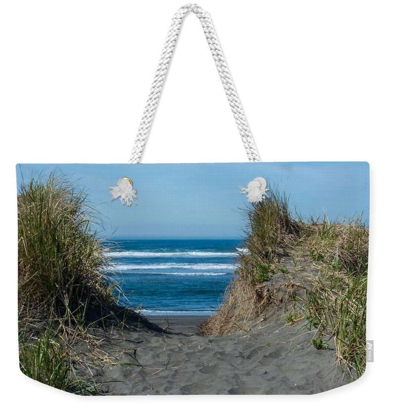 Beach Weekender Tote Bag featuring the photograph Pacific Trail Head by Tikvah's Hope