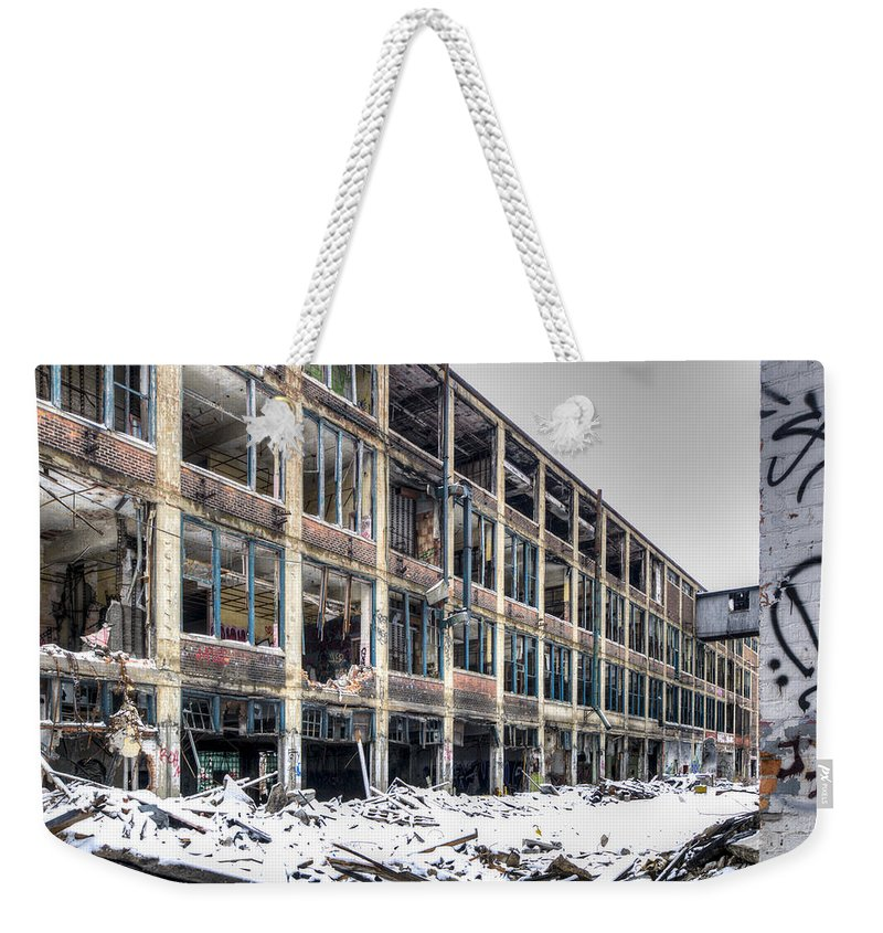 Packard Plant Detroit Michigan Weekender Tote Bag featuring the photograph Packard Plant Detroit Michigan - 12 by Paul Cannon