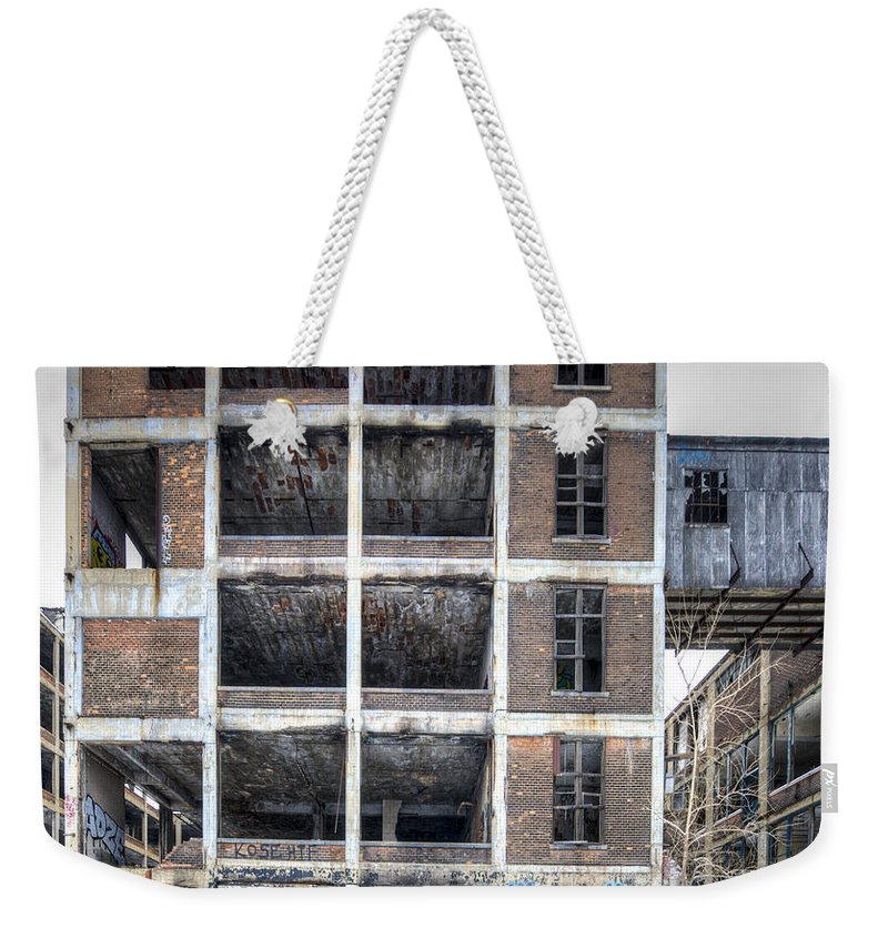 Packard Plant Detroit Michigan Weekender Tote Bag featuring the photograph Packard Plant Detroit Michigan - 14 by Paul Cannon