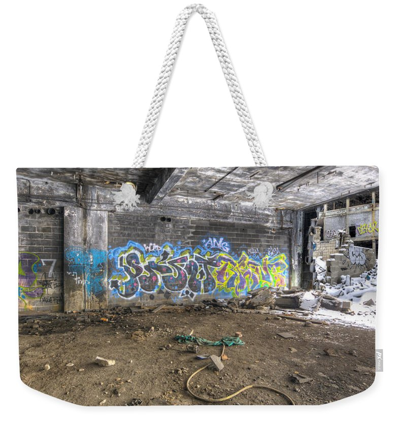 Packard Plant Detroit Michigan Weekender Tote Bag featuring the photograph Packard Plant Detroit Michigan - 8 by Paul Cannon