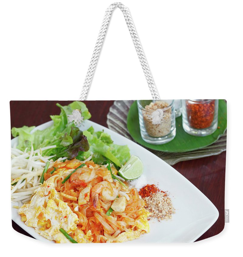 Prawn Weekender Tote Bag featuring the photograph Pad Thai by Tommyix