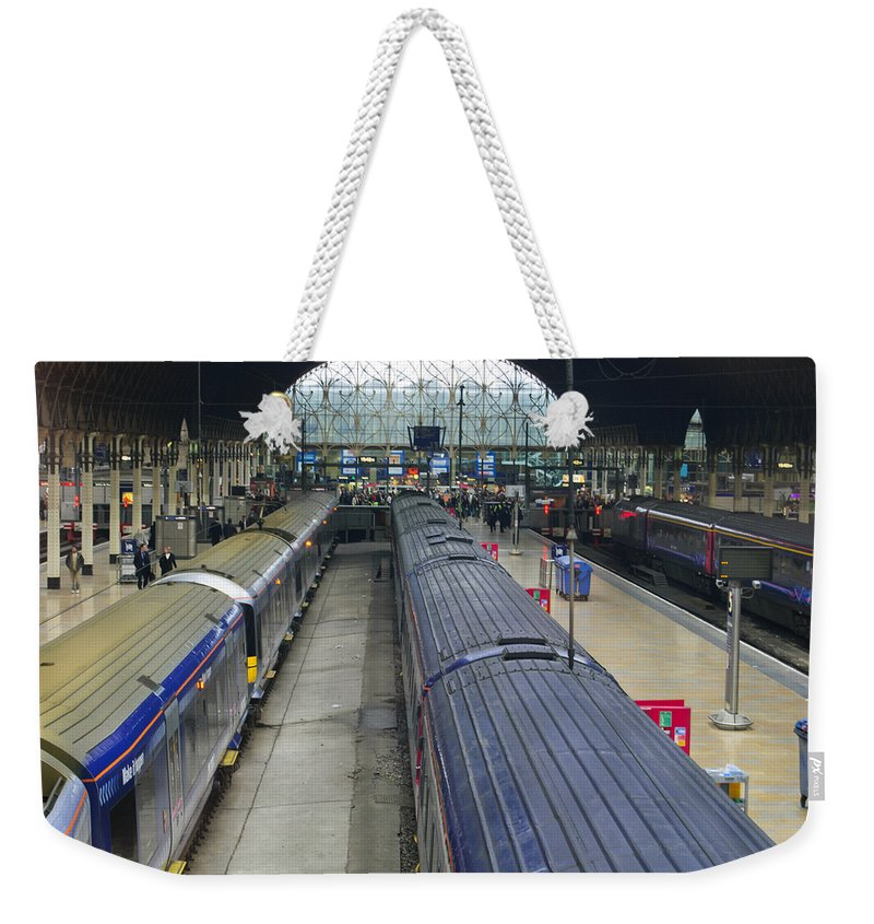 Britain Weekender Tote Bag featuring the photograph Paddington Station by Christi Kraft