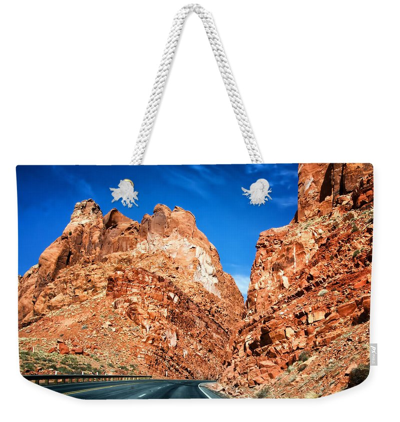 Page Arizona Weekender Tote Bag featuring the photograph Page Arizona by Jon Berghoff