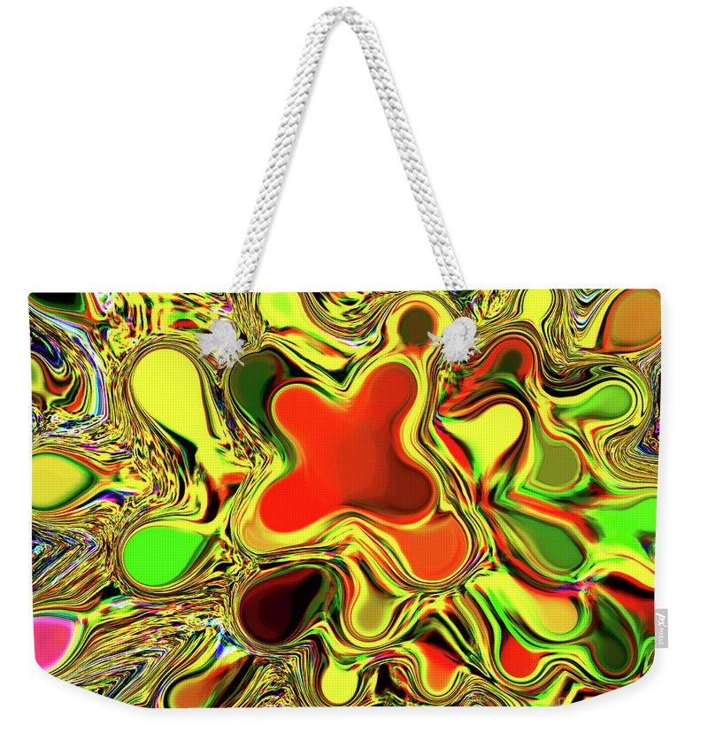 Orange Weekender Tote Bag featuring the photograph Paint Ball Color Explosion by Andee Design