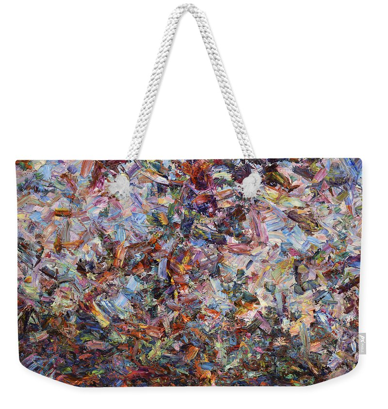 Abstract Weekender Tote Bag featuring the painting Paint number 42 by James W Johnson