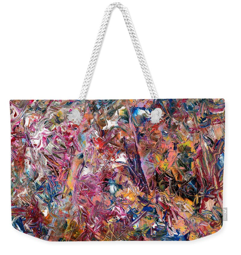 Abstract Weekender Tote Bag featuring the painting Paint number 49 by James W Johnson