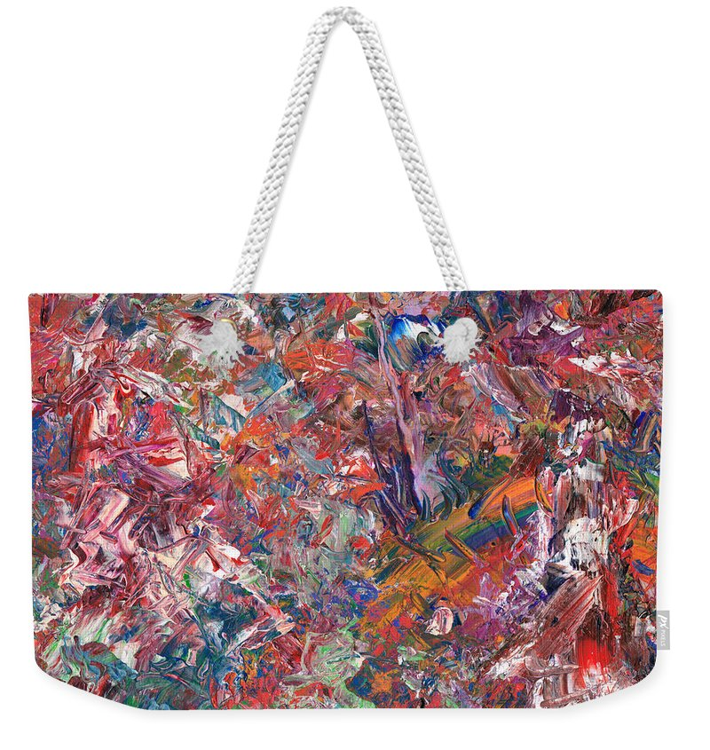 Abstract Weekender Tote Bag featuring the painting Paint number 50 by James W Johnson