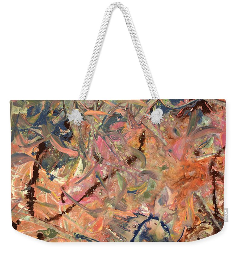 Abstract Weekender Tote Bag featuring the painting Paint number 52 by James W Johnson