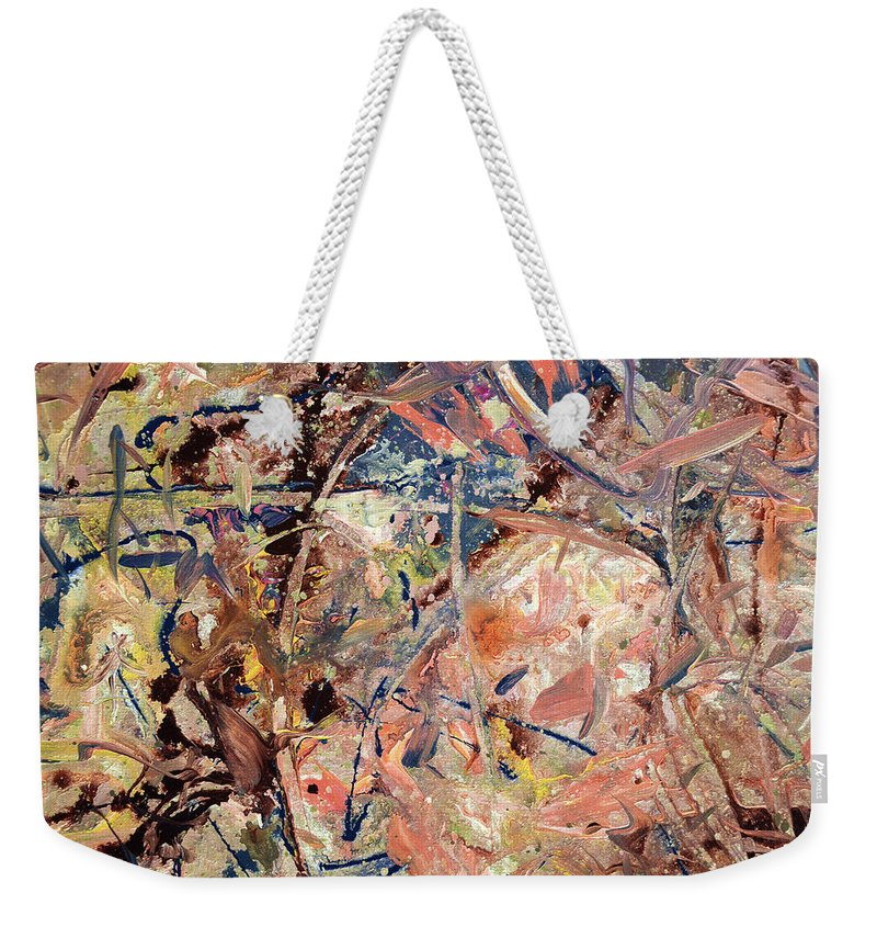 Abstract Weekender Tote Bag featuring the painting Paint number 53 by James W Johnson