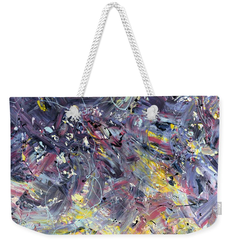 Abstract Weekender Tote Bag featuring the painting Paint number 55 by James W Johnson