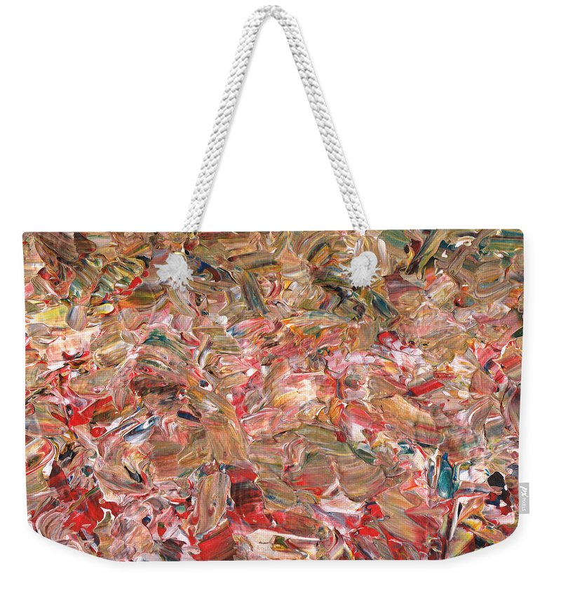 Abstract Weekender Tote Bag featuring the painting Paint number 56 by James W Johnson