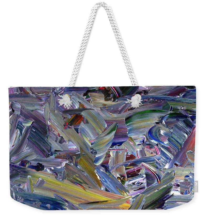 Abstract Weekender Tote Bag featuring the painting Paint number 57 by James W Johnson