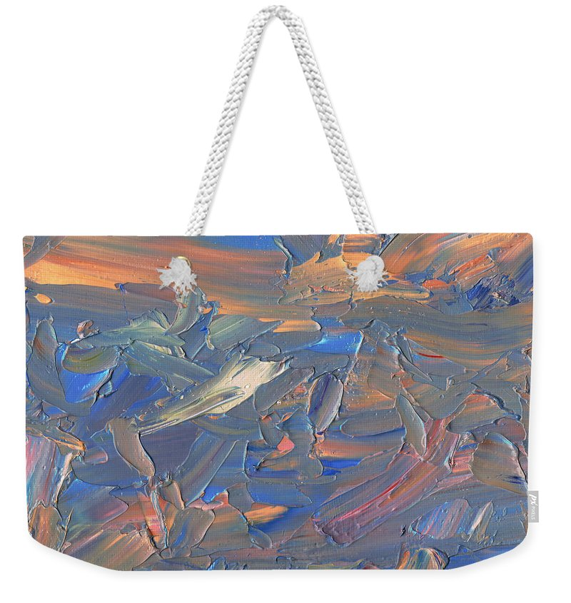 Abstract Weekender Tote Bag featuring the painting Paint number 58C by James W Johnson