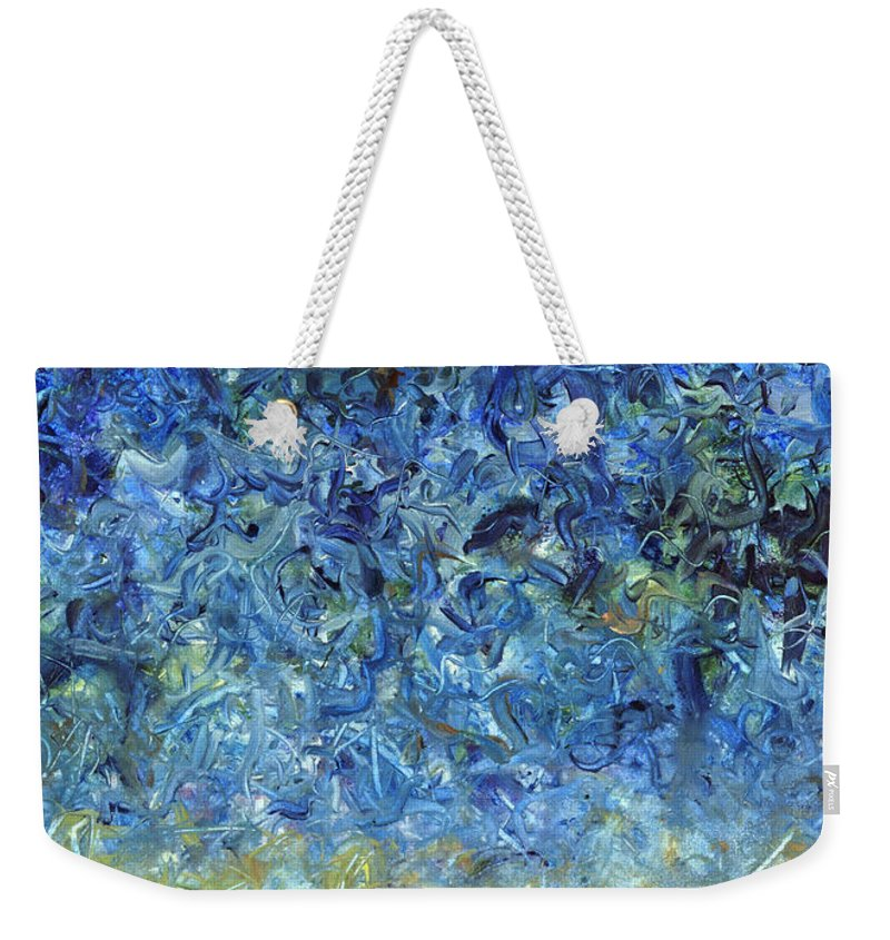 Abstract Weekender Tote Bag featuring the painting Paint number 59 by James W Johnson