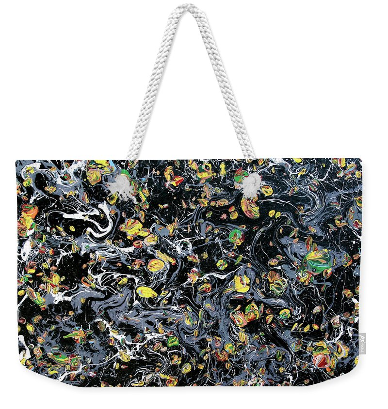 Acrylic Weekender Tote Bag featuring the painting Paint Number Eleven by Ric Bascobert